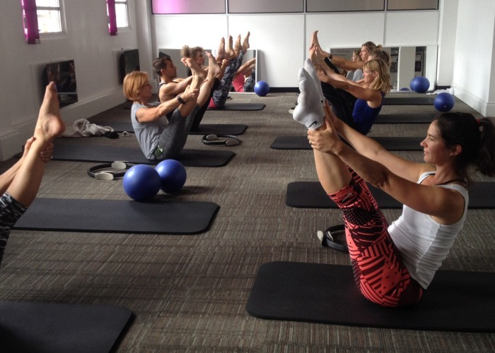 Pilates mat class with Alex Estornel from Sky Pilates and Yoga