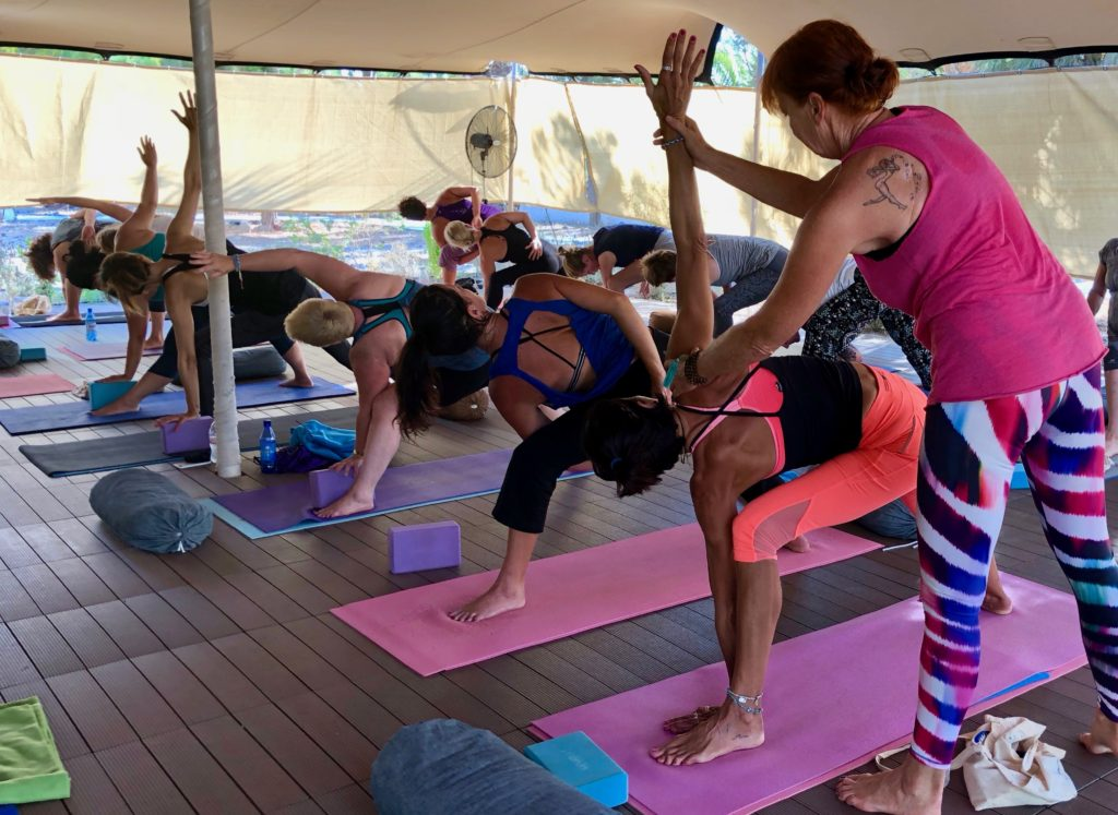 Frauke Behrens yoga instructor at Sky Pilates and Yoga Retreats in Santorini Greece.