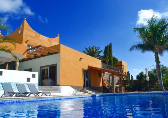 The Pool at Villa Gran Canaria Sky Pilates and Yoga Retreats